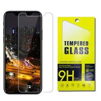 pantallas zte al por mayor-Para Iphone X 8 7 6s Plus Galaxy S7 Protector de pantalla de vidrio templado ZTE Zmax pro Galaxy J7 Prime 2017 LG K20 Plus 0.26mm 2.5D 9H Antivibraciones