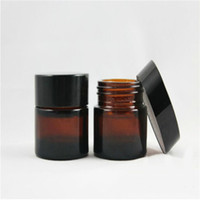 Wholesale Glass Amber Jars - Wholesale-6ps High Quality, 5g 10g 20g 30g 50g Empty, Amber,glass cosmetic container,small glass jar,refillable cosmetic container package