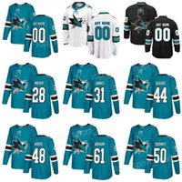 Wholesale 48 sharks jersey - San Jose Sharks 48 Tomas Hertl Jerseys 20 Marcus Sorensen 31 Martin Jones 28 Timo Meier 50 Chris Tierney 61 Justin Braun Custom Hockey Teal