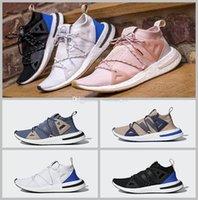 Wholesale pearl running - 2018 new Originals ARKYN Boost Ash Pearl Primeknit TPU White Black Brown Deep blue Running Shoes For Women Men Designer Size 36-44