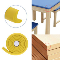 Wholesale safety strips 2m resale online - 2M Baby Safety Desk Table Edge Corner Protector for Furniture Rubber Baby Protection Cushion Guard Strip Softener Bumper