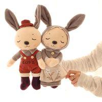 Wholesale Love Toys Couples - 37cm Couples Rabbit Plush Toys for Children Loves Valentine Rabbit Bunny Dolls Friends Gift Stuffed & Plush Toy Doll 1 Pair VE0476