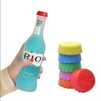 Wholesale kitchen saver - Silicone Bottle Caps Tops Wine Beer Caps Saver Custom Beer Bottle Lids Silica Gel Reusable Stopper cover Caps 1000pcs GGA64