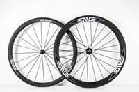 Wholesale carbon bicycle wheels sales resale online - SALE MM rear mm clincher WHITE LOGO carbon wheelset C road bike full carbon bicycle wheels