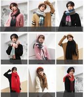 Wholesale plaid christmas scarf for sale - Group buy 18styles Women Plaid Scarves Grid Tassel Wrap Oversized Shawl Tartan Cashmere Scarf Winter Neckerchief Lattice Blankets Party Favor GGA840