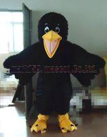 costume de corbeau noir achat en gros de-Costume Black Crow mascot Livraison gratuite taille adulte, fête de carnaval en peluche luxe oiseau mascotte célébrer les ventes d'usine mascotte.