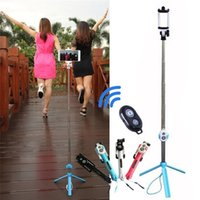 складной мобильный телефон оптовых-Складная Selfie Stick Bluetooth Selfie Stick Штатив для мобильного телефона Stick