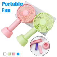 Wholesale usb table fan - SS12 Mini Portable Fan Multifunctional USB Rechargerable Kids Table Fan LED Light 18650 Battery Adjustable 3 Speed for Indoor Outdoor Kids