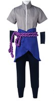 Wholesale naruto cosplay uniform resale online - Anime Naruto Sasuke Uchiha Uniform Cloth Cosplay Costume Custom Made