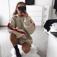 Wholesale Warm Dress Coats - Women Oversized Hoodies Dress Female Long Sleeve Fleece Sweatshirt Tumblr Pullover 2017 Winter Fashion Loose Warm Coat Plus Size