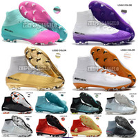 Wholesale free mercurial superfly online - 2018 Men Mercurial Superfly CR7 V FG AG Football Boots Cristiano Ronaldo Neymar JR mercurial superfly ACC Soccer Shoes Cleats