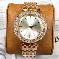 Wholesale Beautiful Ladies Watches - 2018 Brand New Lady Quartz Luxury Diamonds Women Watches Fashion Dial Face Gift For Girls Famous Designer Luxury Top Quality Beautiful Clock