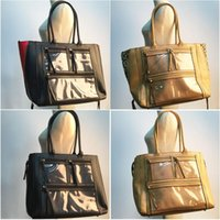 Wholesale leather diaper bag - ROYALBLANKS Wholesale Women Handbag With PVC Window Pocket Diaper Accessorie Purse Panelled Faux Leather Mummy Tote With Free Shipping RB863