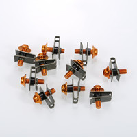 verkleidungsschrauben groihandel-Universal 10 Teile / satz motorrad fahrräder roller M5 5mm shell Verkleidung Schrauben Verschluss Clips Schraube Federmuttern Aluminium
