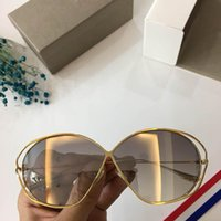 26e2763d801 Monel Fork Frames Sunglasses Reflective mirror 2018 Summer Womens Designer  Sun glasses Luxury Coating Sunglasses Golden Frame with Box C003