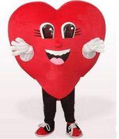 yetişkin kalp kostümü toptan satış-Fabrika doğrudan satış Aşk Kırmızı Kalp Maskot Kostüm Cadılar Bayramı Düğün Parti kırmızı kalp karikatür Kostüm Fantezi Elbise Yetişkin Çocuk Boyutu