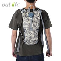 Wholesale water canteens - 3L Water Bag Bottle Pouch knapsack Tactical camp Hydration Backpack Camping Camelback Bicycle Canteen Packs Hiking Water Bags