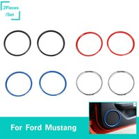 Wholesale mustangs accessories for sale - ABS Door Speaker Decoration Ring Covers Car Styling Interior Accessories Fit For Ford Mustang Fctory Outlet