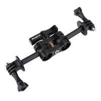 Wholesale arm mount camera - Dual Arm Clamp Mount Bracket with Camera Adapters for  DSLR Photography Video Light Torch
