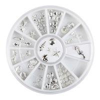 Wholesale rhinestones beads wheel resale online - 120Pcs D Nail Art Ocean Shell Beads Studs Rhinestone DIY Tips Decoration Wheel