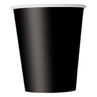 kinder papier gläser großhandel-Boutique DODA 20 Pappbecher (9 Unzen) - Unifarben Birthday Party Geschirr Catering (schwarz)