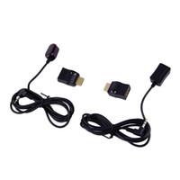 chave de controle remoto de tv universal venda por atacado-Freeshipping Novo Extensor IR Sobre Adaptadores de Controle Remoto HDMI Receptor Transmissor Cabo Kit Atacado