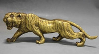 ingrosso statue tigre-Chinese Fengshui Copper Brass Animal Zodiac Year Lucky Tiger Statue