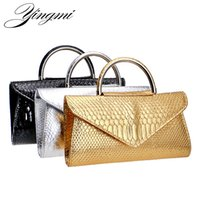 YINGMI Gold Silver Black Women Cluthes Fashion Leather Purse Bag Pu Evening  Bags Chain Shoulder Handle Bags For Party Wedding 89090a8a1e9e
