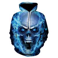 nebelfleck-sweatshirt großhandel-3d schädel 2018 hoodies männer / frauen sweatshirts hoodie 3d marke clothing cap hoodie drucken paisley nebula jacke
