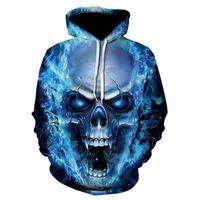 hoodie imprimé crâne pour femme s achat en gros de-Crâne 2018 Sweats À Capuche Pour Hommes / Femmes Sweat À Capuche 3d Marque Vêtements Cap À Capuche Imprimer Paisley Nebula Jacket
