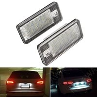 Wholesale audi license plate light for sale - Group buy 2PCS LED Car License Plate Lamp for Audi A3 A4 A6 A8 Q7 RS4 Carbriolet RS6 Plus W Car Styling Automobile LED Number Plate Light