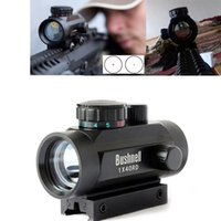 trilho de montagem óptica venda por atacado-Bushnell Holográfica Óptica Ponto Verde Vermelho Escopo Tático 1X40 Riflescope Sombra para ensamblagem para montagem em trilho de 11 / 20mm