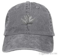 Wholesale cooling hat black resale online - Maple Leaf Canada Baseball Caps Concise Timeless Cool Hat Designs for College Students