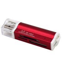 carte ms achat en gros de-TF M2 MMC MS PRO DUO Lecteur de cartes mémoire multi USB 2.0