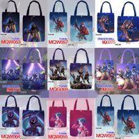 Wholesale canvas print shop - 35*40cm Fortnite Cosplay Handbags Teenager Canvas Bag Cartoon Print Bags Kids Gift Fortnite Shopping Bags CCA9894 60pcs