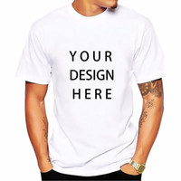 customize shirt design Canada - Picture processing High Quality Customized Men T shirt Print Your Own Design   LOGO   QR code  photo casual tshirt