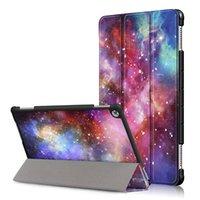 huawei mediapad için deri çanta toptan satış-Mediapad M5 Lite 10 Akıllı Kapak PU Deri Kılıf için Huawei Mediapad M5 10.1 inç Tablet Katlanır Folio Kılıfları + Stylus