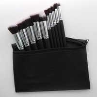 Wholesale makeup brush set leather pouch resale online - 2019 New released Professional makeup brushes Pieces makeup brush set leather Pouch DHL