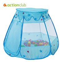 Wholesale housing bubble - Actionclub Tent for Kids Foldable Outdoor Baby Games Play Beach Tent Sport Lace Princess Bubble House Chlidren Kindergaten Gifts