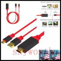 hdmi genişletilmiş kablo toptan satış-2 in 1 3.1 USB C Tipi HDMI Dönüştürücü 4 K 30Hz 3D 1080 P HDTV Video Grafik TV iphone için Kablo Uzatın