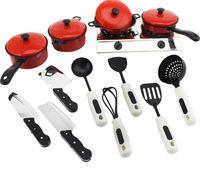 игрушки для кухни оптовых-13шт/набор дети классический Притворись кухонный дома моделирование игрушки посуда кастрюли посуда Посуда Притворись играть игрушки для детей