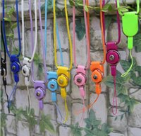 Wholesale Neck Strap Ring - 2018 Universal Rotatable Neck Strap Detachable Ring Lanyard hanging Charming Charms For Mobile Phone Cameras Devices ID Cards Cellphone Rope