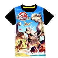 erkek çocuk yazlık giysiler toptan satış-Jurassic Dünya Dinozor Çocuk Boys Pamuk Karikatür T Shirt Yaz Bebek Çocuk Boys için Üstleri Tee T Shirt Çocuk Boys Giyim Giysiler 3-9Y