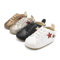 Wholesale baby wear star for sale - Baby Boys Star Prewalker Infant Elastic Band Casual Shoes Five pointed Star First Walker Breathable Wear resistant Autumn Toddler Shoes