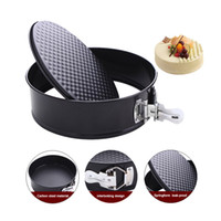 Wholesale bread bake pan for sale - Group buy 7 inch Cake Pan Kitchen Tools Bakeware Baking Pans Cake Mold Round Baking Dish Heavy Carbon Non stick Slipknot Removable Base Tray GGA611
