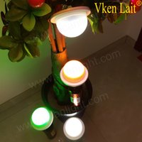Wholesale battery operated led light base for sale - Group buy RGBW Rechargeable Lithium Battery Operated Plastic LED Furniture Lighting Under Table Light Base for Hotel Wedding Party Events
