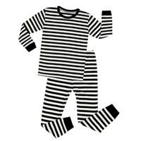 ee551192b Venta al por mayor de Pijamas De Rayas Blancas Negras - Comprar ...