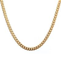 yüksek kaliteli titanyum zincir toptan satış-EURO-US Erkek Altın Kolye Zinciri 24/30 inç Uzun 5 MM Geniş Titanyum Paslanmaz Çelik Altın Renk Küba Zincir Erkekler Kadınlar Için Yüksek Kalite