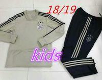 Wholesale Kids Boys Sweaters - thai quality 2018 2019 ajax Soccer training suit kids kits 18 19 sweater HUNTELAAR ZIYECH DOLBERG NOURI KLUIVERT soccer youth tracksuit