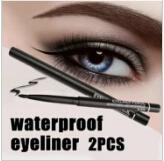 eye-liner rétractable achat en gros de-Vente en gros chaude! 2pcs / lot femmes imperméable rétractable stylo eyeliner rotatif eye liner crayon maquillage cosmétique outil 131-0229 livraison gratuite